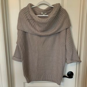 Umgee Cowl Neck Off the Shoulder Sweater